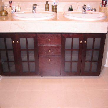 Mueble madera aspa recta